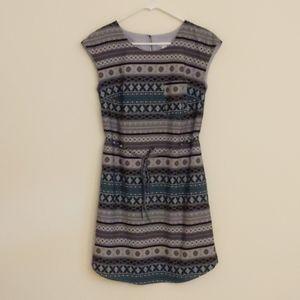 Merona summer dress (black, blue, gray; small)